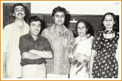 Madan Mohan with Family