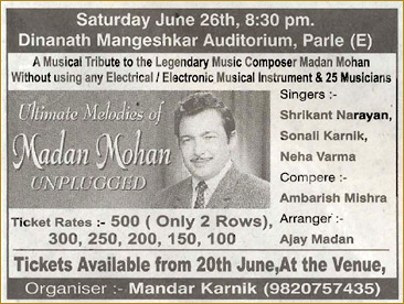 Ultimate Melodies of MADAN MOHAN - Unplugges